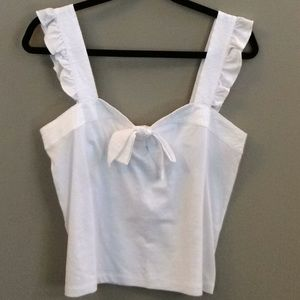 Like New J Crew white top. Size small